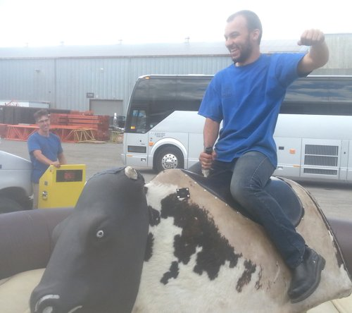Every one of our mechanical bull operators 1s been fully trained and licensed.